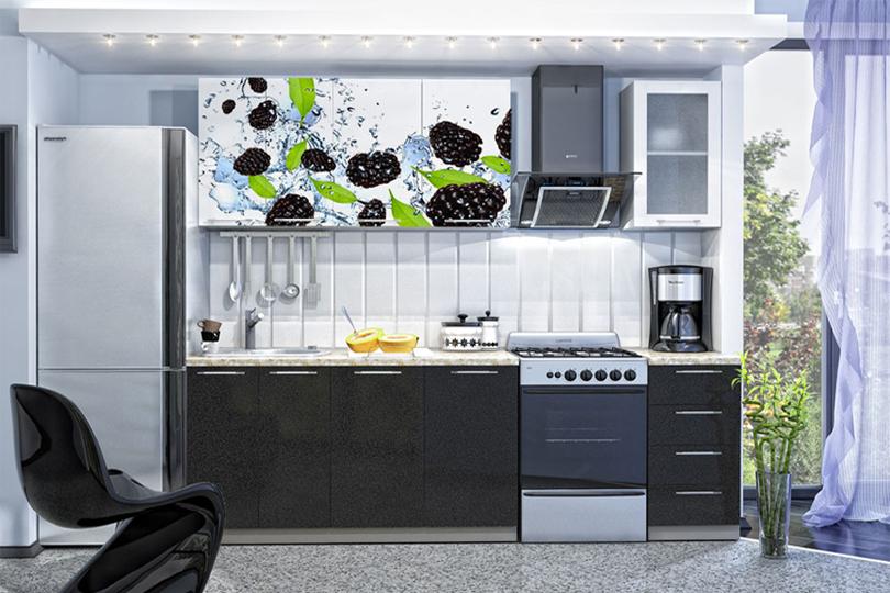 Кухня с фотопечатью на МДФ