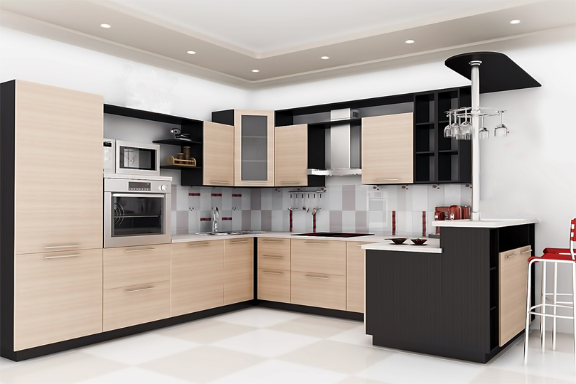 Кухня п образная МДФ №43
