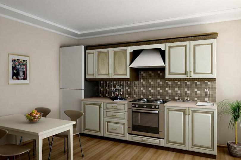 Кухня ПВХ патина №16