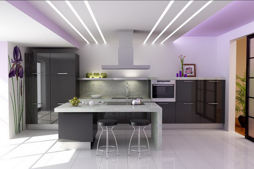 Черная кухня из пластика