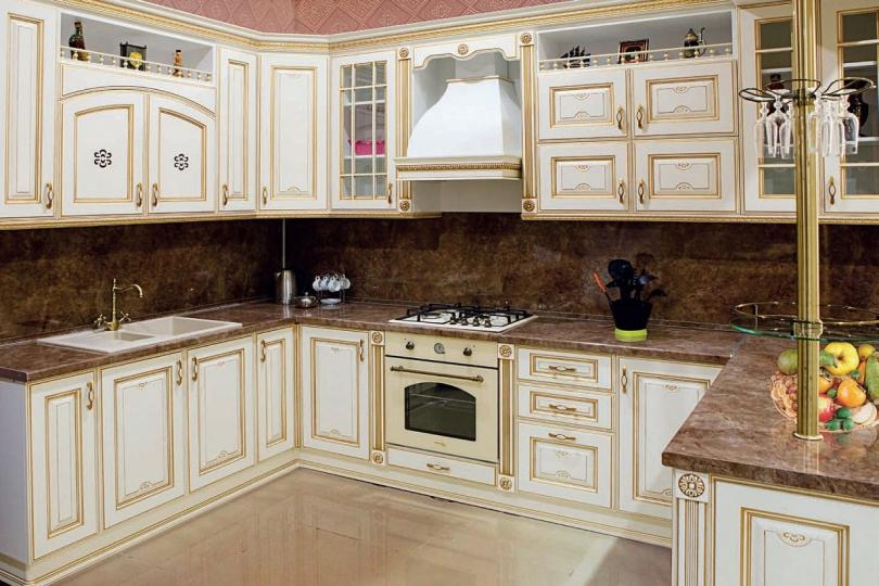 Кухня из массива ясеня №10