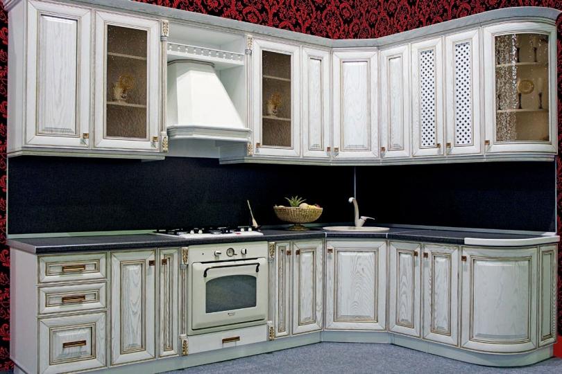 Кухня из массива ясеня №9