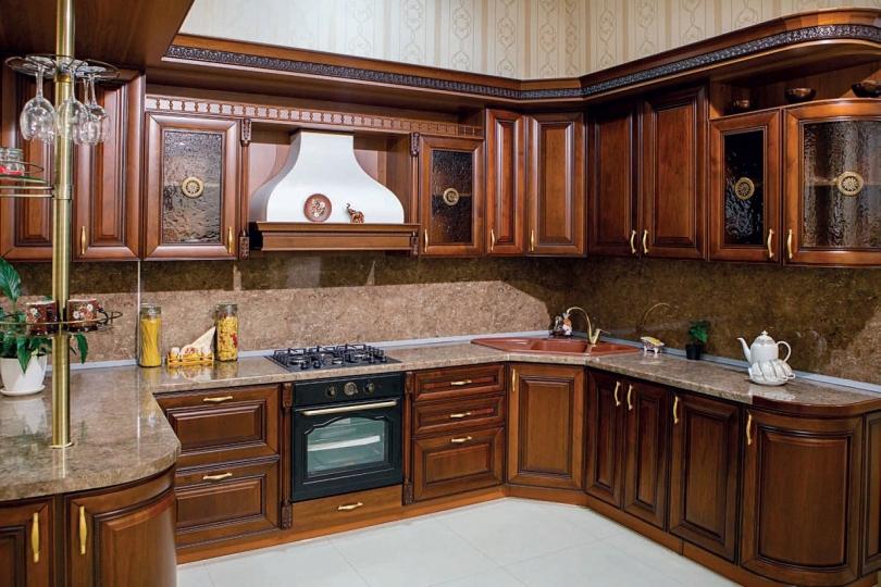 Кухня из массива черешни № 11