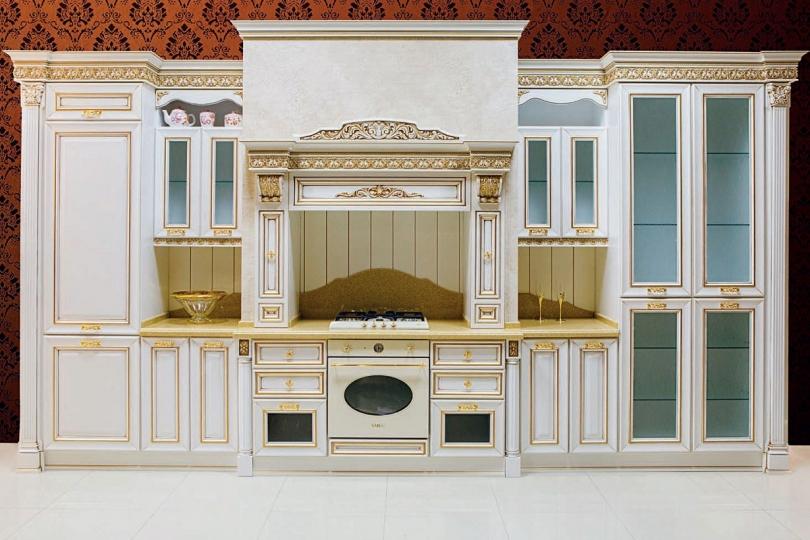 Кухня из массива ольхи №15
