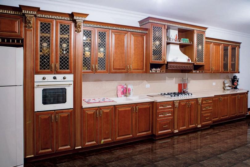 Кухня из массива черешни № 8