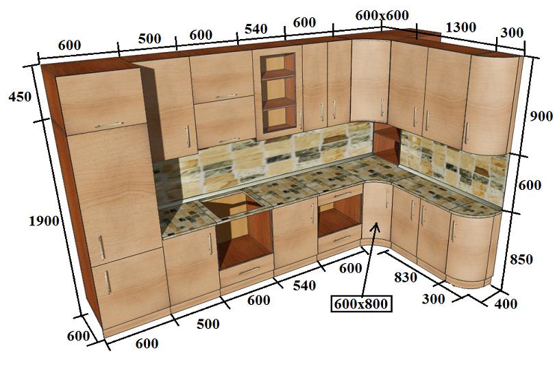 Кухни на заказ по индивидуальным размерам