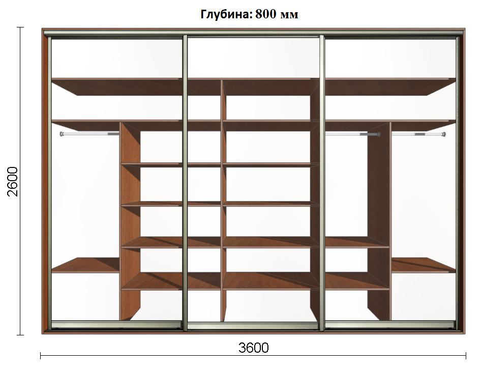 Шкафы купе по размерам
