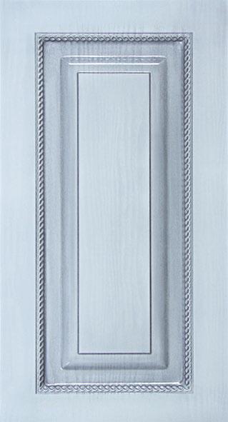Фрезеровка для кухни Квадрат с острым углом. Декор плетение